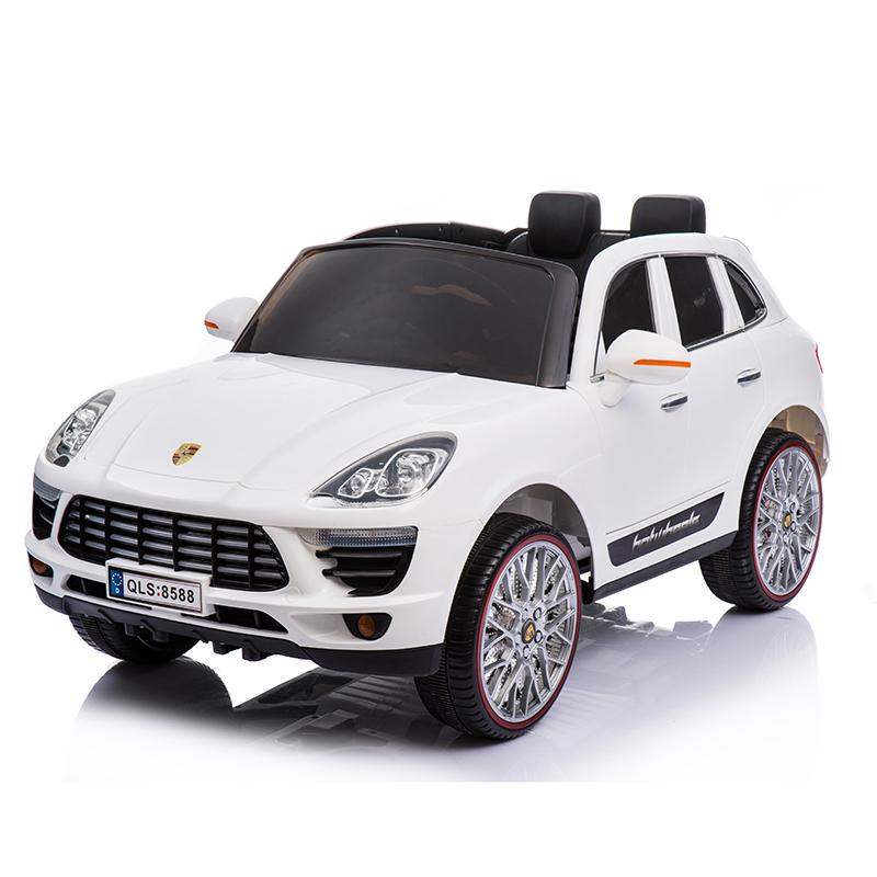 Ηλεκτροκίνητο παιδικό αυτοκίνητο τύπου Porsche Cayenne  Λευκό με τηλεκοντρόλ 12v QLS8588