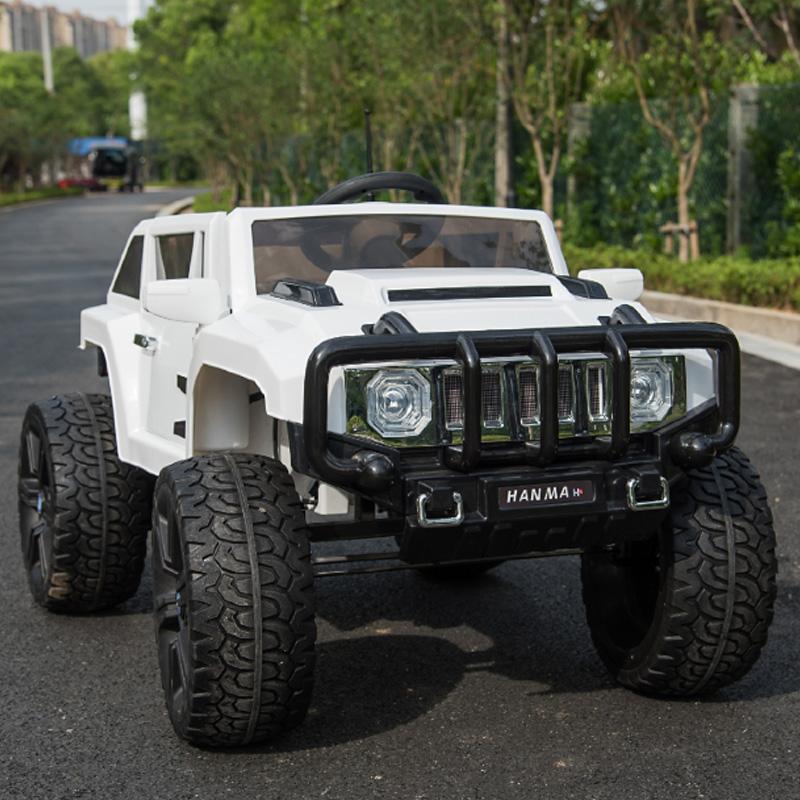 Ηλεκτροκίνητο παιδικό αυτοκίνητο τύπου Hammer  Λευκό με τηλεκοντρόλ 12v RD007x