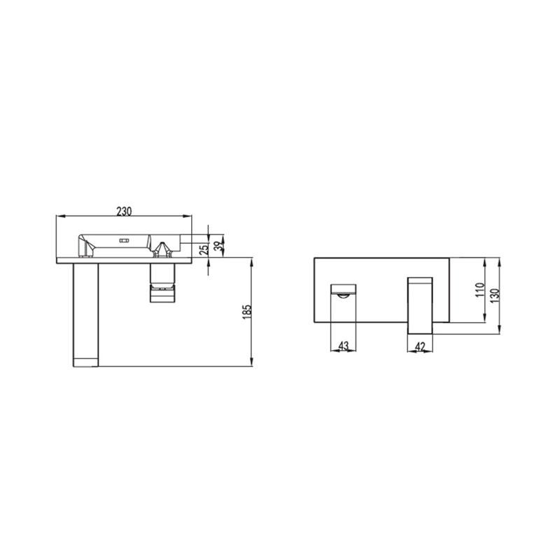 Εντοιχιζόμενη Μπαταρία νιπτήρος Praxis Eros WPT148077C