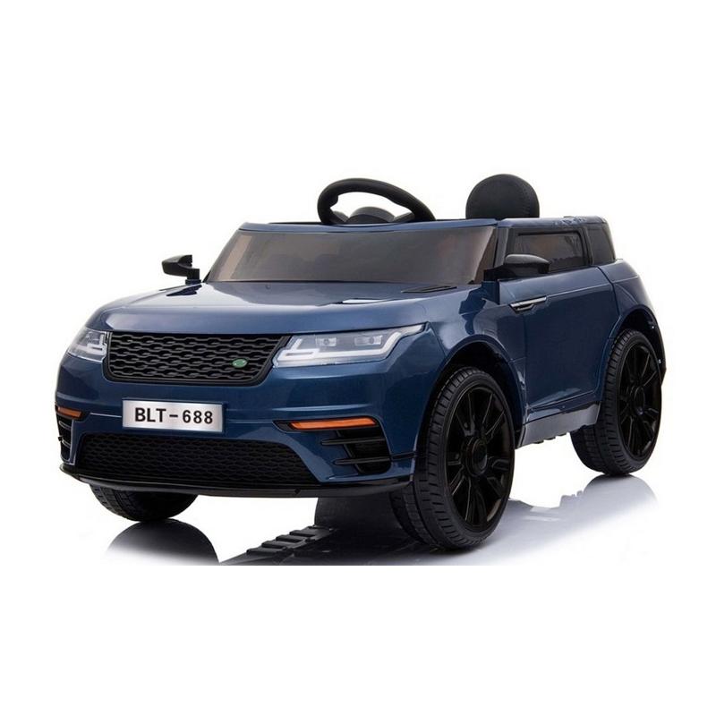 Ηλεκτροκίνητο παιδικό αυτοκίνητο τύπου Range Rover  μπλε δερμάτινο καθισμα 12V με τηλ/ρόλ  BLT688