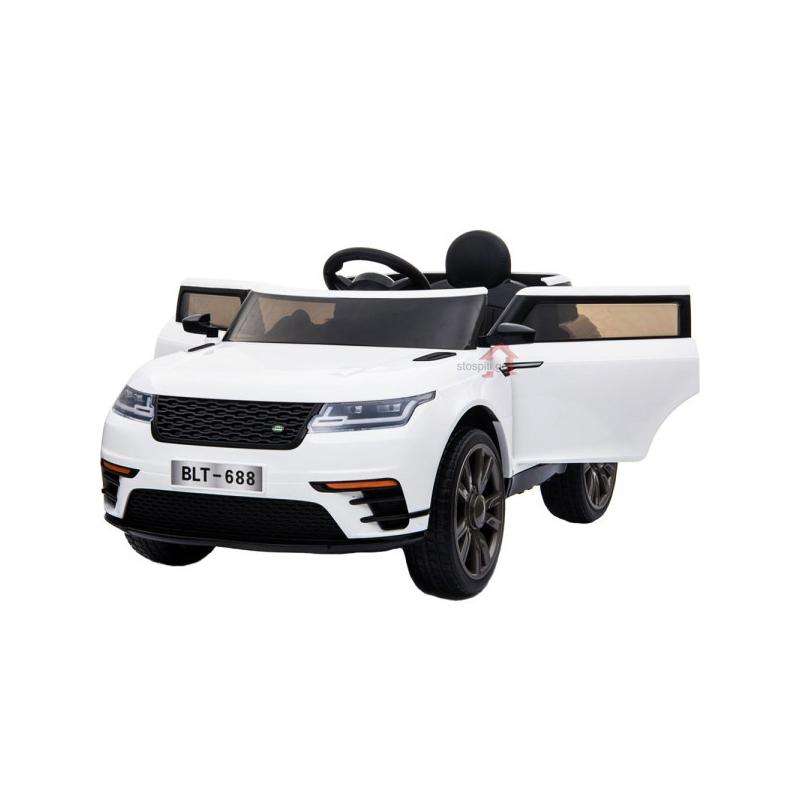 Ηλεκτροκίνητο παιδικό αυτοκίνητο τύπου Range Rover  Λευκό δερμάτινο καθισμα 12V με τηλ/ρόλ  BLT688