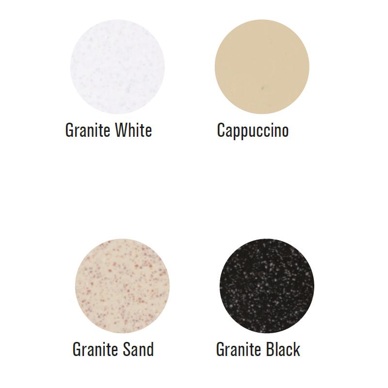Νεροχύτης Γρανίτη 80Χ49 CROWN R - 82 ECONOMIC Granite Black