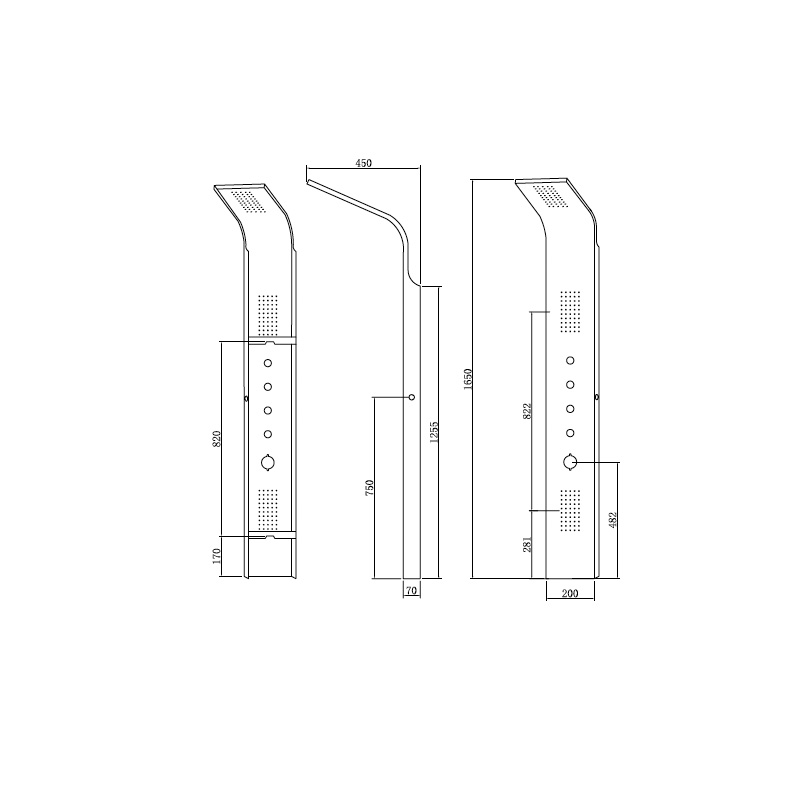 Στήλη Ντους με Υδρομασάζ  Karag GRAND ELEA N9901