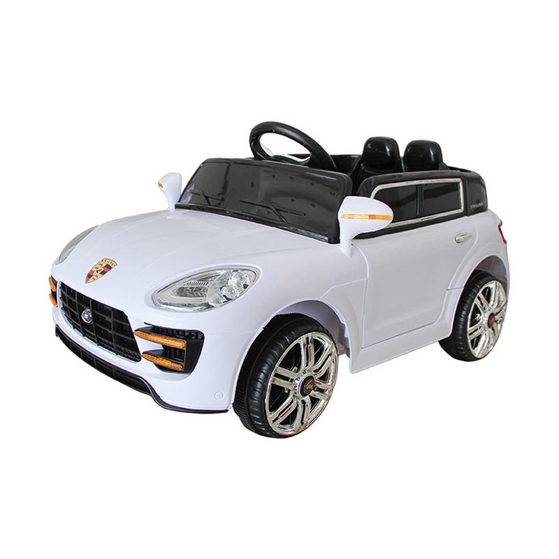 Ηλεκτροκίνητο παιδικό αυτοκίνητο τύπου  Porsche Λευκό με τηλεκοντρόλ 12v HJ33
