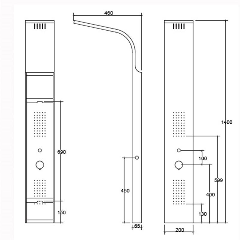 Στήλη Ντους με Υδρομασάζ  Karag BIANCO A7304W