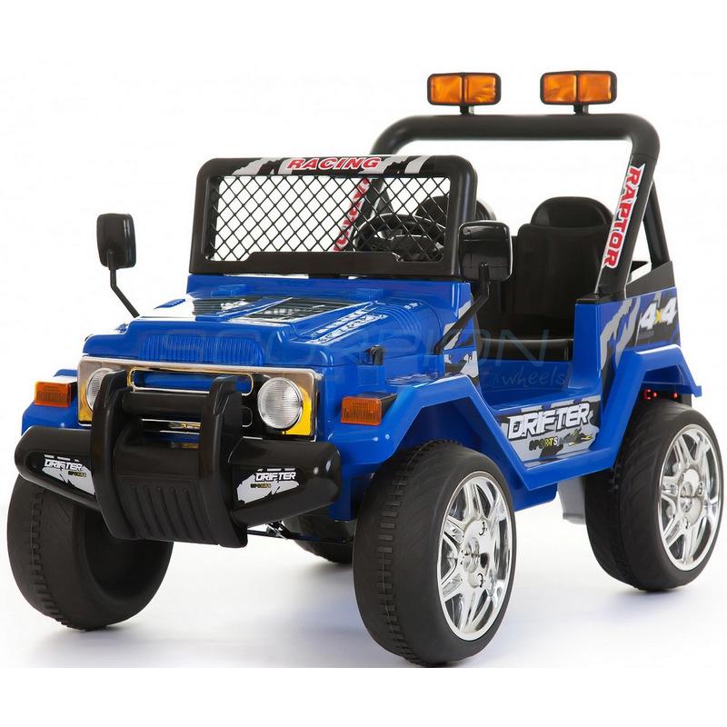 ScorpionWheels Ηλεκτροκίνητο παιδικό διθέσιο αυτοκίνητο τύπου Jeep Wrangler 12v μπλέ με τηλ/τρόλ 5247061